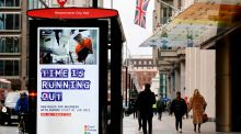 A UK government advertisement tells businesses what they already know: that 'time is running out' to prepare for Brexit. Photograph: Tolga Akmen/AFP