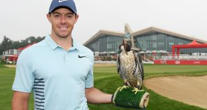 Rory McIlroy in Abu Dhabi in 2018. He will return   to the UAE for the   HSBC Golf Championship at Abu Dhabi Golf Club  from January  21st-24. Photograph: Photo by Ross Kinnaird/Getty Images
