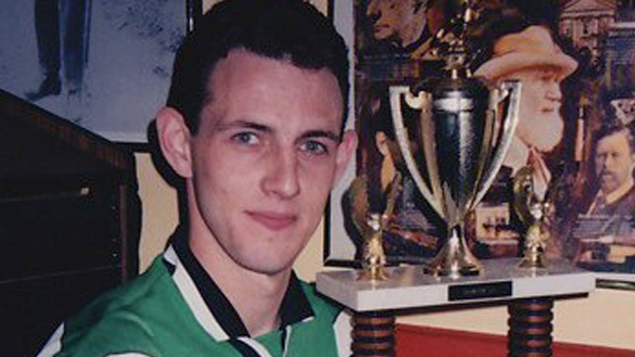Robbie Walsh after captaining the NY Shamrocks to yet another trophy win