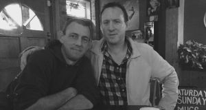 Michael Fitzpatrick and Robbie Walsh on a night out in 2016, just two weeks before Robbie's passing