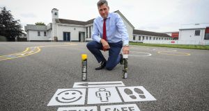 Reopening schools in September was a big achievement,  but keeping them open will be a major challenge. Matt Melvin, principal of St Etchen's National School, Kinnegad. File photograph: Crispin Rodwell/The Irish Times