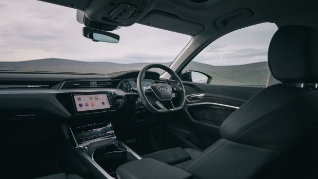 Inside, the cabin is largely lifted from the A6 and A7, so its familiar even if the two-screen layout for the infotainment and heating can be too fiddly for its own good at times. Quality is close to perfect, though and space is also good