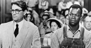 To Kill a Mockingbird: Gregory Peck as Atticus Finch and Brock Peters as Tom Robinson in the 1962 film of the novel. Photograph: Silver Screen/Getty