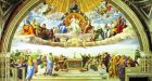 Raphael: a detail from The Disputation of the Holy Sacrament, at the Apostolic Palace