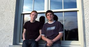 Patrick (left) and John Collison as teenagers