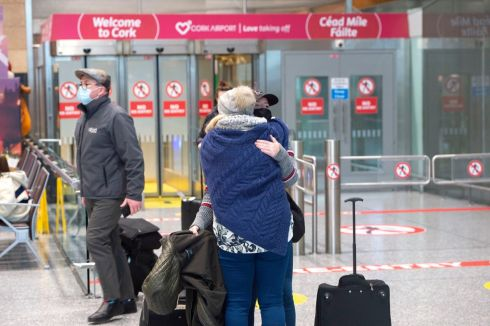 Arrivals from London to Cork Airport. Photograph: Michael MacSweeney/Provision