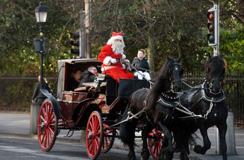 Around St Stephens Green in a horse and carriage in Dublin. Photograph: Dara MacDonaill/The Irish Times