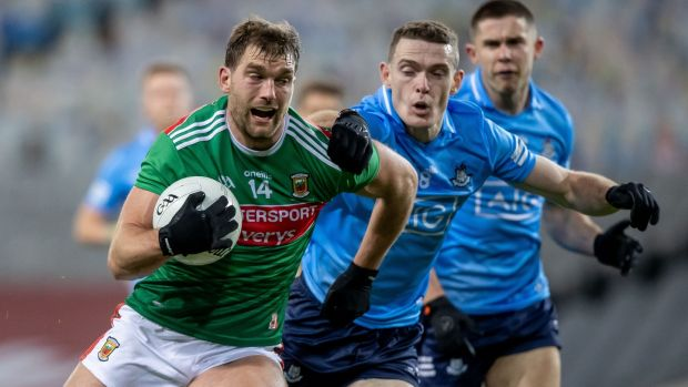 Aidan O'Shea: was left isolated too often in attack as final quarter was played out along wholly predictable lines. Photograph: Morgan Treacy/Inpho