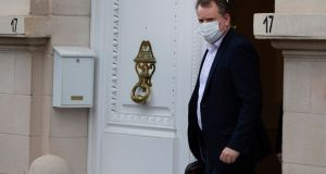 UK chief negotiator David Frost leaving the UK ambassador's residence in Brussels. Photograph: Virginia Mayo/AP Photo