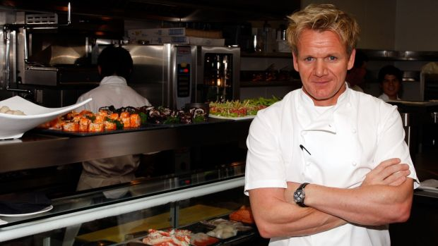 Gordon Ramsay: Launched Hell's Kitchen burger. Photograph: Frazer Harrison/Getty