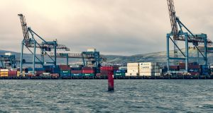 The container dock at Belfast Harbour. Some British-based companies have warned they will no longer supply the North after the end of the year. Photograph: iStock