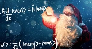Santa Claus checks quantum theory to ensure he gets delivery logistics right.