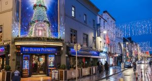 The Christmas lights on Oliver Plunkett Street in Cork. Photograph: Getty Images