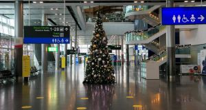 Dublin Airport, December 21st. Photograph: Gareth Chaney/Collins