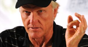 Retired Australian golfer Greg Norman has tested positive for Covid-19. File photograph: EPA