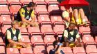 Mesut Ozil sits under an umbrella during a league match with Southampton in June. Photograph:  Catherine Ivill/Getty
