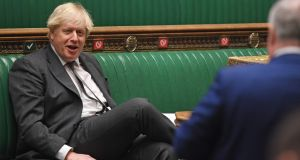 British prime minister Boris Johnson in the House of Commons debate on the second reading of the EU Future Relationship Bill on Wednesday. Photograph: Jessica Taylor/UK Parliament/AFP via Getty Images
