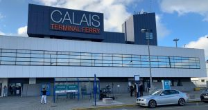 The terminal building at Calais Port, France. Photograph: Sharon Gaffney