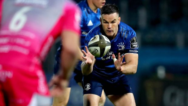 Johnny Sexton returns to action for Leinster on Saturday night. Photograph: Ryan Byrne/Inpho