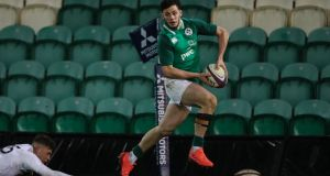 Andrew Smith in action for Ireland Under-20s in February 2020. Photograph:  Billy Stickland/Inpho