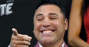 Oscar De La Hoya:  'It is a serious proposition,' he says of his plans to return to the ring. 'The main reason is because I love it and I miss it.' Photograph: Ethan Miller/Getty Images
