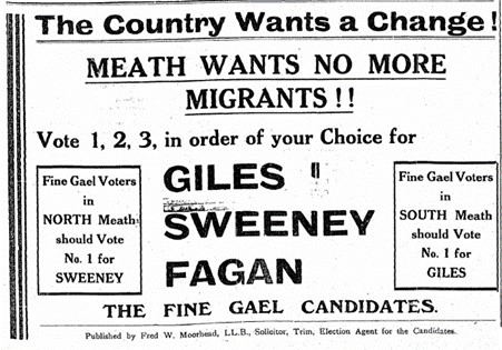 Meath Chronicle, June 18th, 1938. Courtesy of Meath Chronicle