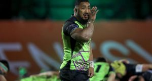 Connacht centre Bundee Aki has been sidelined with a knee injury. Photograph: Bryan Keane/Inpho