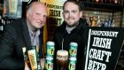 Peter Mosley and Elliot Hughes of Porterhouse Brewing Company, whose Around the Clock Imperial Stout was voted beer of the year by the Independent Craft Brewers of Ireland.