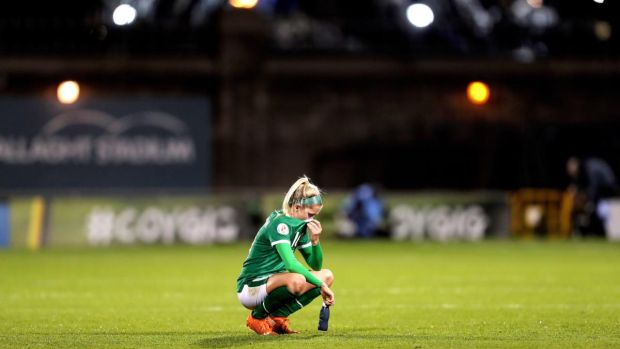 Ireland's Denise O'Sullivan after the Women's European Championship qualifier against Germany at Tallaght Stadium at the start of December. Photograph: Laszlo Geczo/Inpho