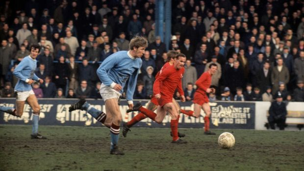 Bell in action for City in 1969. Photo: PA Photos/PA Wire