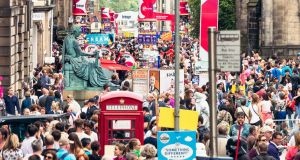 Crowds at the Edinburgh International Festival in 2015. Photograph: Getty Images