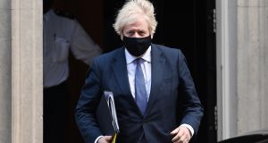Boris Johnson's hasty introduction of the lockdown this week followed a pattern that has seen him delay difficult decisions until they become unavoidable. Photograph: Andy Rain/ EPA