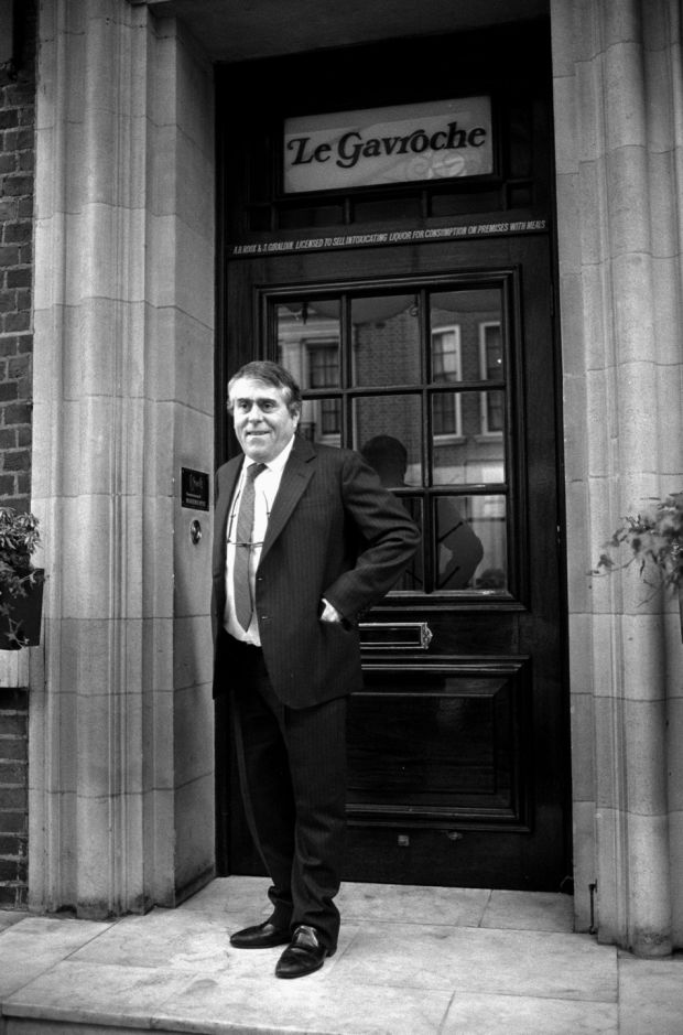 Albert Roux outside his Mayfair Restaurant, Le Gavroche in London on March 12th, 1991. File photograph: Adam Butler/PA Wire