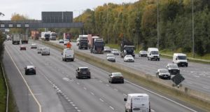 The number of cars on the State's main roads has dropped significantly since the recent move to a Level 5 Covid-19 restrictions. File photograph: The Irish Times
