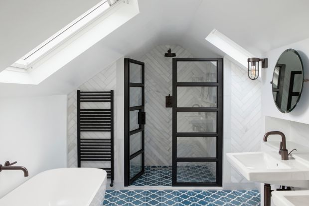 This attic-bathroom conversion is a good example of a small project delivering a big impact. Photograph: Ruth Maria Murphy