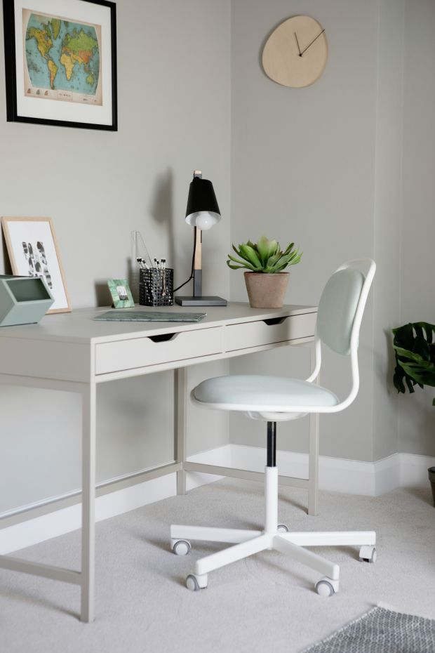 Clean desk policy: There's no need to turn your home into an office to work from home. Photograph: Ruth Maria Murphy