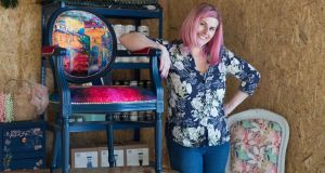 Agness Meehan of Agness Vintage ReDesigns at her workshop in Co Clare. Photograph: Eamon Ward