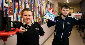 Over 1,000 students from across  Ireland are taking part in the first ever virtual BT Young Scientist & Technology Exhibition. Participating students from Naas Community College, Naas, Co Kildare Sean Byrne and Sean Higgins and their project 'Can an economically efficient upper limb prosthetic be made and match the market?'.