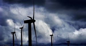 Low winds meant wind farms were producing less power. File photograph: Ben Curtis