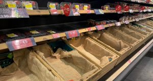 While there is no doubt about empty shelves in some stores, others have downplayed the extent of the problem. Photograph: Alan Betson
