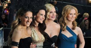 Sex and the City cast members (L-R) Sarah Jessica Parker, Kristin Davis, Kim Cattrall and Cynthia Nixon arrive at the UK film premiere of Sex and the City 2 in London in 2010. Photograph: Daniel Deme/EPA