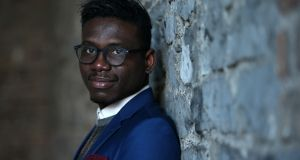 Joseph Okoh, originally from Nigeria, moved to Dublin in 2019  to study journalism. Photograph: Laura Hutton