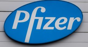 Pharma giant Pfizer has begun offering its own staff access to the Covid-19 vaccine the company developed with German company BioNTech. Photograph: Stephanie Lecocq