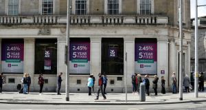 An AIB branch in Dublin's city centre. AIB is one of four Irish banks seeking to launch a new digital payments service. Photograph: Jason Cairnduff/Reuters