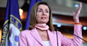 House speaker Nancy Pelosi has made no secret of her views since last Wednesday's events. File photograph: Getty Images