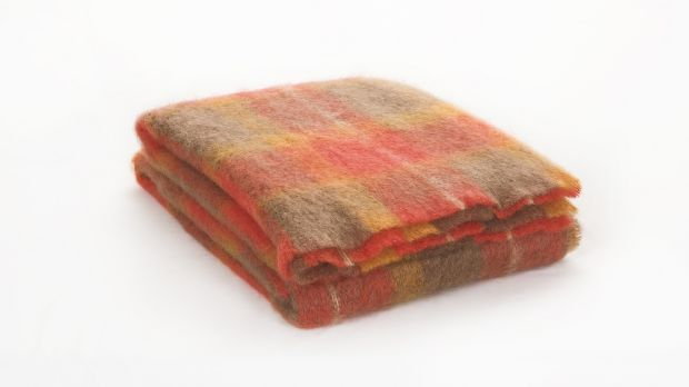 Flame: Brushed mohair throw.