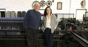 Miriam Cushen, pictured with her father, Philip, is the sixth generation of Cushen – and the first woman – to steer the family business which has been creating textiles since the early 18th century.