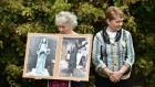 Tuam mother and baby home survivor Carmel Larkin and historian Catherine Corless. Photograph: Charles McQuillan/Getty
