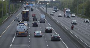 Traffic on the M50 in Dublin in April, 2020. Photograph: Nick Bradshaw/The Irish Times
