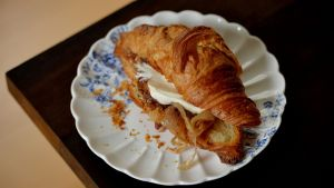 Sticky onion, figs and goat's cheese croissant. Photograph: Alan Betson/ The Irish Times